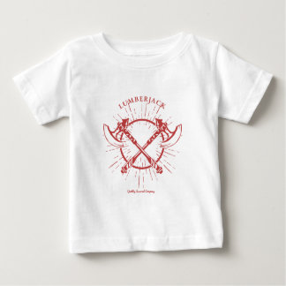 Camiseta gráfica cruzada del leñador de las hachas