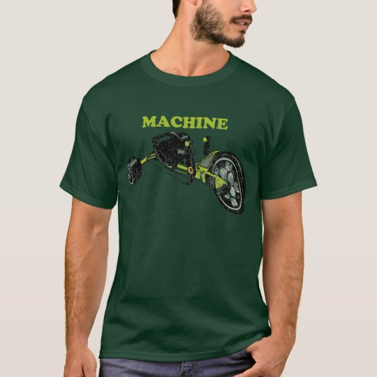 Camiseta gráfica de la máquina verde