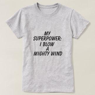 Camiseta gráfica de la superpotencia de las