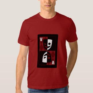 Camiseta gráfica de las caras blancos y negros del