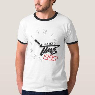 Camiseta gráfica de los años 90 del reloj de la