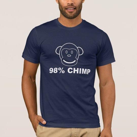 Camiseta gráfica del CHIMPANCÉ del 98%