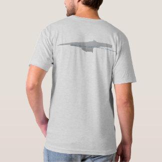 Camiseta gráfica del cuello en v de la estación de