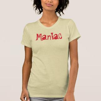 Camiseta gráfica del diseño maniaco de la camiseta