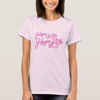 Camiseta gráfica del lema de la esposa del rosa