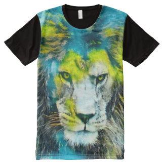 Camiseta gráfica del león de la fantasía del arte