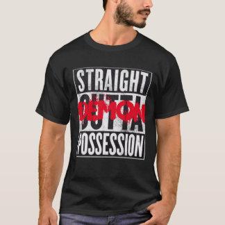 Camiseta gráfica divertida de la posesión recta