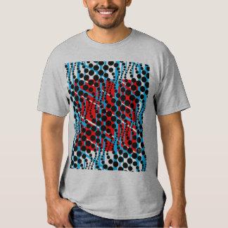 Camiseta gráfica retra del rojo azul