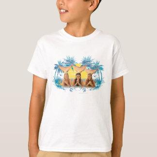 Camiseta Gráfico azul de la palmera del grupo