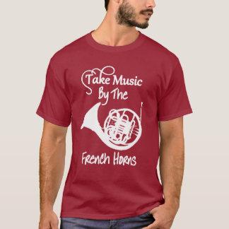 Camiseta Gráfico divertido del lema de la trompa de la