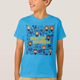 """Camiseta Gráfico manejado """"travesura"""" del dibujo animado"""