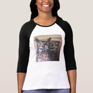 Camiseta Grandes búhos de cuernos