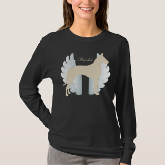 Camiseta Great dane personalizado con el fondo de las alas
