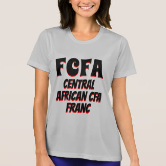 Camiseta Gris centroafricano del franco de FCFA CFA