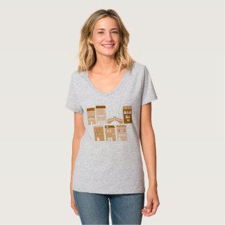Camiseta gris con el pueblo de Italia