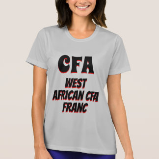 Camiseta Gris de Africa Occidental del franco del CFA CFA