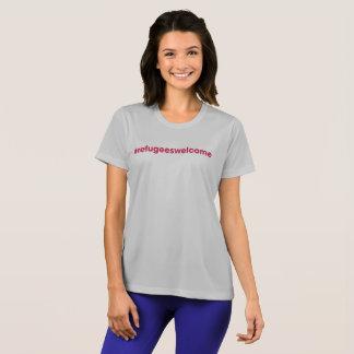 Camiseta gris del Deporte-Tek de las señoras del