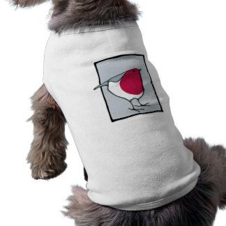 Camiseta gris del perro del pequeño petirrojo ropa macota