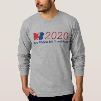 Camiseta Gris largo de la manga de la nación de Biden