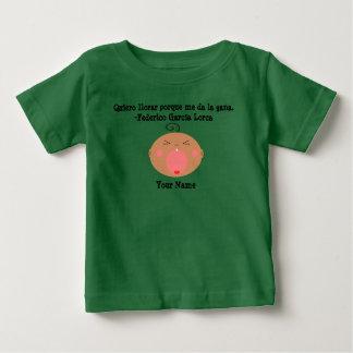 Camiseta gritadora linda del bebé de la lengua