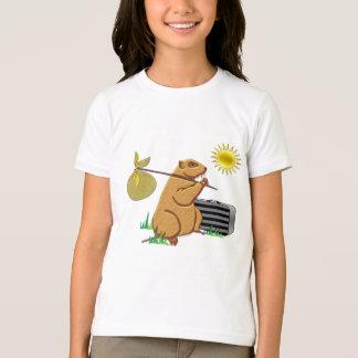 Camiseta Groundhog corre lejos