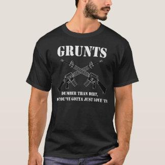 Camiseta gruñe el dumder que las suciedades