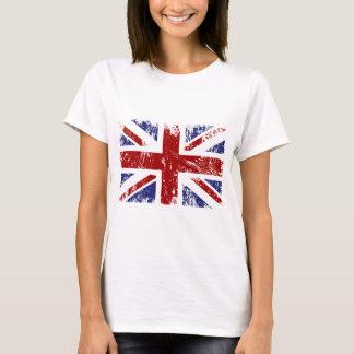 Camiseta Grunge británico del punk de Union Jack de la