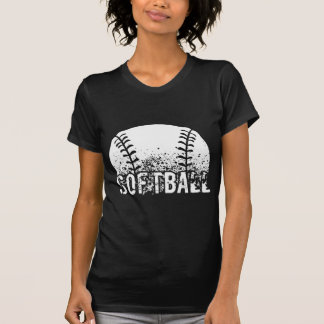 Camiseta Grunge del softball