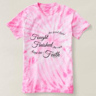 Camiseta guardada acabada de combate de la fe
