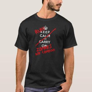 Camiseta Guarde a los zombis tranquilos están viniendo