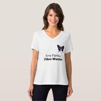 Camiseta Guarde el luchar de cuello en v relajado del