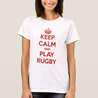 Camiseta Guarde el rugbi de la calma y del juego