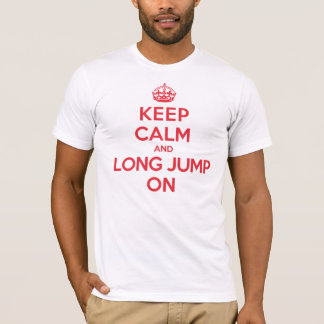 Camiseta Guarde el salto de longitud tranquilo