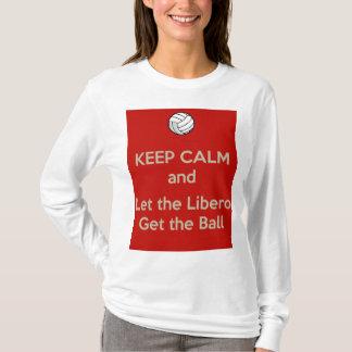 Camiseta Guarde el voleibol tranquilo