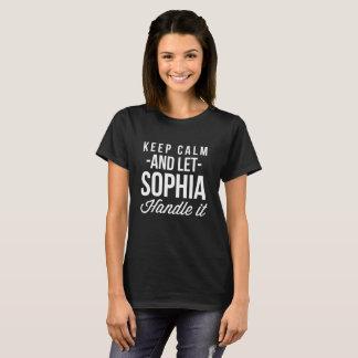 Camiseta Guarde la almeja y deje a Sophia manejarla