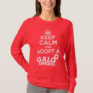 Camiseta Guarde la calma para adoptar un Galgo