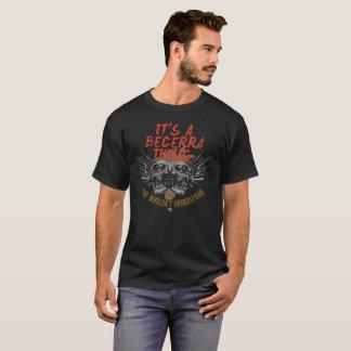 Camiseta Guarde la calma porque su nombre es BECERRA.
