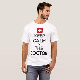 Camiseta Guarde la calma que soy el doctor Men White