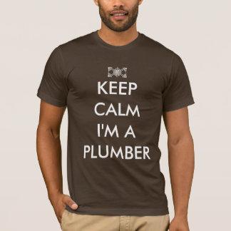 Camiseta guarde la calma que soy fontanero