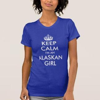 Camiseta Guarde la calma que soy un chica de Alaska