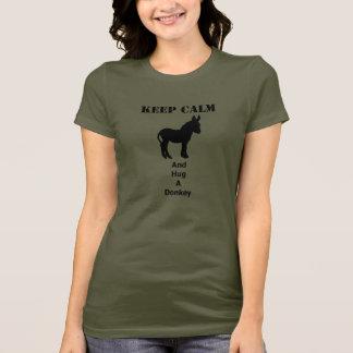 Camiseta Guarde la calma y abrace un burro