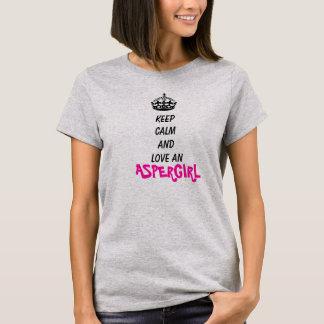 Camiseta Guarde la calma y ame un Aspergirl
