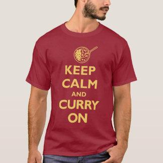 Camiseta Guarde la calma y el curry en (la oscuridad)