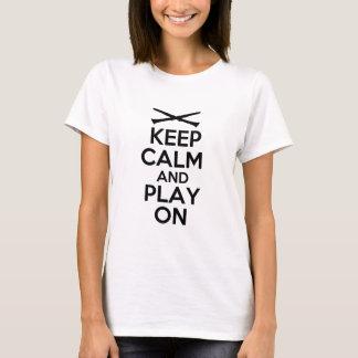 Camiseta Guarde la calma y el juego en (el Clarinet)
