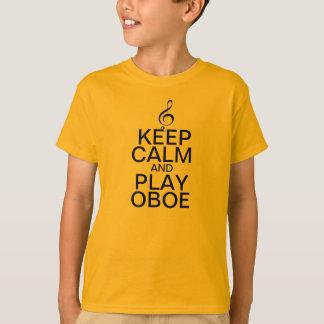Camiseta Guarde la calma y el juego Oboe