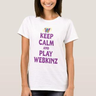 Camiseta Guarde la calma y el juego Webkinz