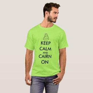 """Camiseta """"Guarde la calma y el mojón en"""" caminar la"""