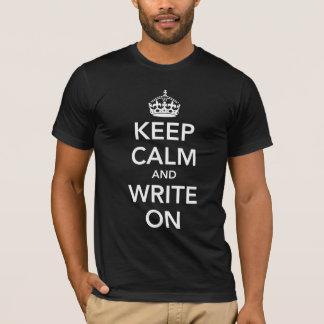 Camiseta Guarde la calma y escriba encendido