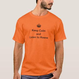 Camiseta Guarde la calma y escuche Keane