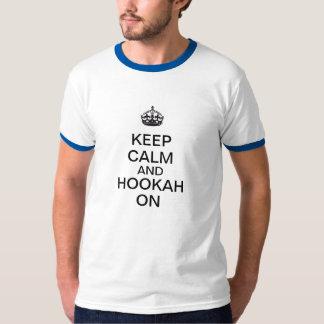Camiseta Guarde la calma y la cachimba encendido